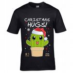 Premium Funny Retro Cute Japanese Kawaii Cartoon Style Cactus with Santa Hat Motif Unisex T-shirt